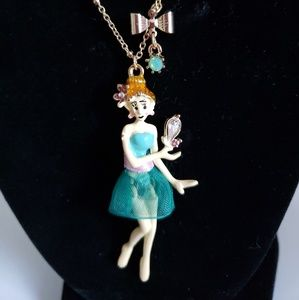 NIB-Betsey Johnson Dancing Lady Necklace